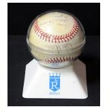 "Kansas City Royals Autographed Baseball Includes George Brett And Others Dated ""6-24-86"""