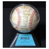 Kansas City Royals Autographed 1976 Baseball In Case