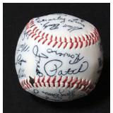 Kansas City Royals Stamped Signatures Baseball Mid-1970s