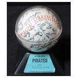 Pittsburgh Pirates 1976 Stamped Signatures Baseball In Case