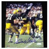 "Bart Starr Green Bay Packers Authentic Autographed Photo With COA 8"" x 10"""