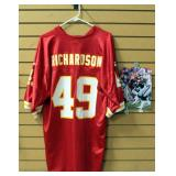 Tony Richardson Kansas City Chiefs Football Jersey Size Large And Authentic Autographed Photo With C