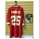 Jamaal Charles Kansas City Chiefs Football Jersey Size 4XL And Authentic Autographed Photo With COA