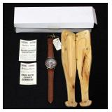 Waltham Babe Ruth Watch 100th Anniversary Limited Edition In Wooden Bat Case, Unused
