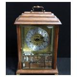 Ansonia Gold Medallion Clock Model 370 With Chimes And Beveled Glass