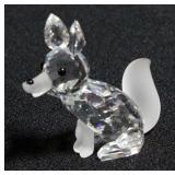 Swarovski Silver Crystal Fox Figurine # 7629 NR 070 000 With Box And COA