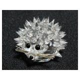 Swarovski Silver Crystal Porcupine/Hedge Hog Figurine With Box And COA