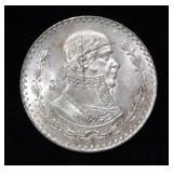 1964 Mexican Un Peso Silver