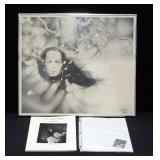 "Dennis J. Martin Framed Print Of Woman By Tree Pencil Sketch Signed By Artist 22.5""W x 19.5""H And Au"
