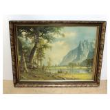 "Albert Bierstadt Print of Yosemite Valley 2, Framed 33""W x 26""H"