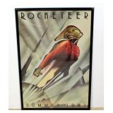 "1991 Rocketeer Promotional Movie Poster Print, Framed 28""W x 41.5""H"