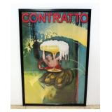 "Contratto Champagne Advertising Poster Print, 25""W x 37""H"