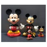 Mickey Mouse Bobblehead (3) And Mickey Mouse Pen Topper