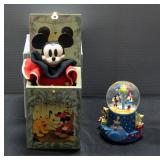 "Mickey Mouse Limited Edition Musical Jack-In-The-Box By Enesco And Hallmark ""When You Wish Upon A St"