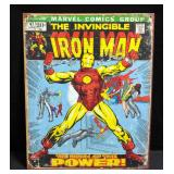 "The Invincible Iron Man Retro Comic Tin Sign Of Issue 47 Cover 12.5""W x 16""H"