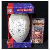 Tony Gonzalez Kansas City Chiefs Autographed Football In Original Box And Kansas City Chiefs 75 Year