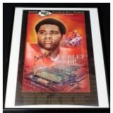 "Curley Culp Kansas City Chiefs Hall Of Fame Autographed Poster Framed 14""W x 18""H"