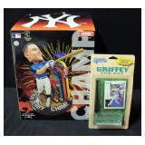 Aaron Judge Home Run Derby Champ Bobble Head By FOCO In Original Box And Ken Griffey Jr The Bat Mini