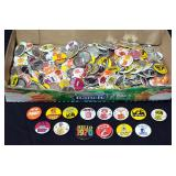 Assortment Of Collegiate Fan And Promotional Buttons Including Nebraska, Iowa, Auburn, Arizona, Vand