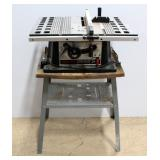 "Skilsaw 10"" Table Saw Model 3400 On Stand, Powers On"