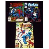 Amazing Spider-Man #375, Venom #1 Funeral Pyre, Chromium Glitter Covers, Venom Lethal Protector #5