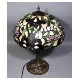 "Tiffany Style Table Lamp 23""H, Powers On"