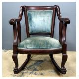 "Upholstered Rocking Chair With Padded Back And Seat 26.5""W x 31""H"