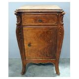 "Decorative End Table With 1 Drawer And 1 Lower Compartment With Door 17.5""W x 28""H x 13""D"