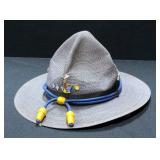 Mesh Ranger/Mountie/Smokey The Bear Hat With Chin Strap