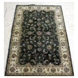 "Kaleen Rug Design No DE8H-02 60""W x 92""L Green And Cream Floral Pattern"