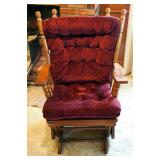 """Best Chairs Inc, Solid Wood Rocking Upholstered Glider, 39"""" Tall Includes Cotton Throw Blanket"""
