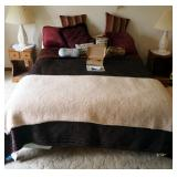 Full Size Sleep Number Mattress Model #5000 With Remotes, Box Spring Hollywood Frame And Bedding Inc