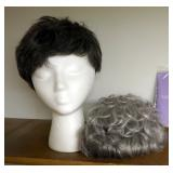 Gabor Acrylic Flex Tight Wigs Qty 2 With Wig Liners With Foam Head