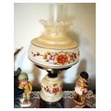 Glass Table Lamp With 3 Way Switch, Ceramic Figurines, Trinket Boxes, Driftwood Arrangement And More