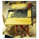 """Black & Decker 7.25"""" Circular Saw Model #7399 Mounted To IRS Collapsible Saw Table"""