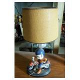 "Ceramic Motorcycle Lamp, 30.5"" Tall"