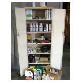 "Metal 2-Door Storage Cabinet 68"" x 26"" X 12"" Including Contents, Brite Zinc, Silicone Adhesive, Duct"