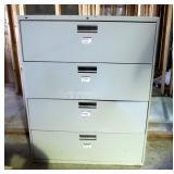 """Hon 4-Drawer Lateral Filing Cabinet, 53"""" X 42"""" X 19"""""""