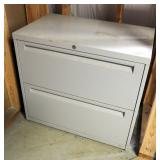 "Steel Case 2-Drawer Lateral Filing Cabinet, 27.5"" X 30"" x 18"""