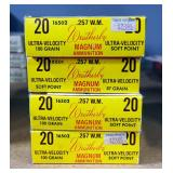 Weatherby .257 WM 87 Gr SP Ammo, Approx 80 Rounds