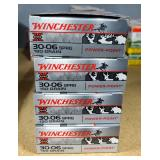 Winchester 30-06 SPRG Power-Point Ammo, 180 Gr Approx 20 Rounds, 150 Gr Approx 60 Rounds