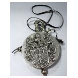 Reproduction Medal Powder Flask With High Relief