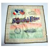 World War One Collection Includes Army Service Silk, General Pershing Iron Bank, Framed Soldiers Cre