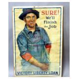 "World War One Victory Liberty Loan Lithograph By Gerrit A. Beneker, 1918, 26"" Wide x 39"" High"