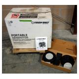 Troy-Bilt Portable Generator 6000 Watt With Wheel Attachments And Manual, In Box