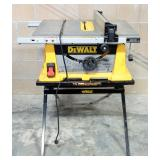 "DeWalt 10"" Table Saw Model VW744 Type 2, On Stand, Powers On"