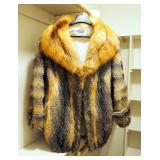 Lark Lynn Furs Fox Fur Coat With 3/4 Sleeves