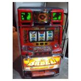 """2002 Eleco Ltd """"Babel"""" Pachislo Electronic Slot Machine Model 120399, With Key And Tokens, Powers On"""