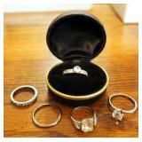 Silver Wedding Bands QTY 5