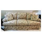 """Masterfield Furniture Upholstered Sofa With Throw Pillows, 33"""" x 86"""" x 40"""""""